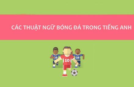 Những thuật ngữ về bóng đá cho người mới bắt đầu phải biết